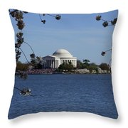 Jefferson Monument Throw Pillow