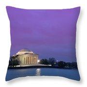 Jefferson Monument Throw Pillow