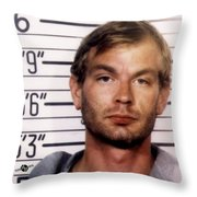 Jeffrey Dahmer Mug Shot 1991 Square  Throw Pillow