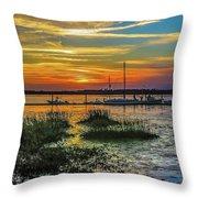 Jekyl Island Sunset Throw Pillow