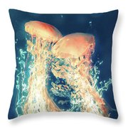 Jellies Throw Pillow by Kenneth Armand Johnson