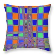 Jelly Fish On The Beach Abstract Throw Pillow
