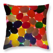 Jellybeans Throw Pillow by Anna Villarreal Garbis