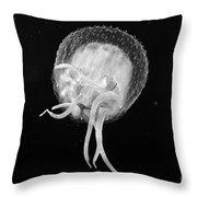Jellyfish - Bw Throw Pillow