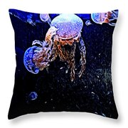 Jellyfish Action Throw Pillow