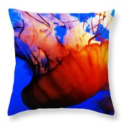 Jellyfish Beauty Throw Pillow