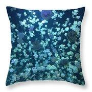 Jellyfish Collage Throw Pillow