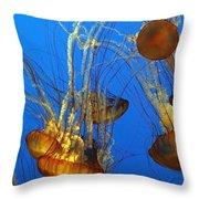 Jellyfish Family Throw Pillow