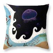Jellyfish Jam Throw Pillow