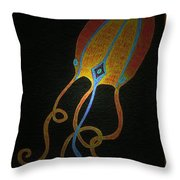 Jellyfish Light Throw Pillow