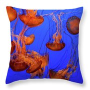 Jellyfish Party Throw Pillow
