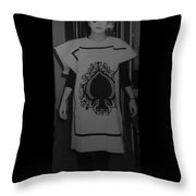 Jen Of Spades Throw Pillow