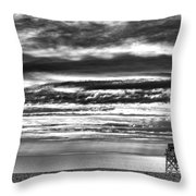 Jennings Beach, Fairfield Throw Pillow