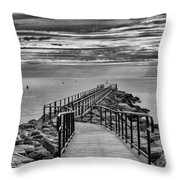 Jennings Beach Dock Throw Pillow