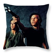 Jenny Agutter And Michael York, Logan's Run Throw Pillow