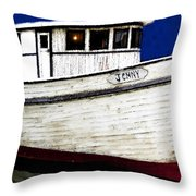 Jenny Throw Pillow by David Lee Thompson