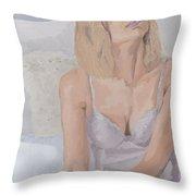 Jenny In White Throw Pillow