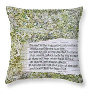 Jeremiah 17 Throw Pillow