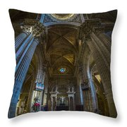 Jerez De La Frontera Cathedral Dome From Inside Cadiz Spain Throw Pillow