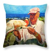 Jergens And Honey Throw Pillow