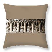 Jerpoint Abbey Irish Tomb Weepers Saints County Kilkenny Ireland Sepia Throw Pillow