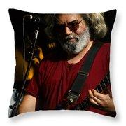 Jerry Garcia 04 Grateful Dead Alpine Valley Wisconsin 1987 Throw Pillow