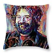 Jerry Garcia Art - The Grateful Dead Throw Pillow