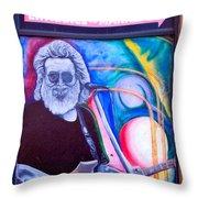 Jerry Garcia - San Francisco Throw Pillow