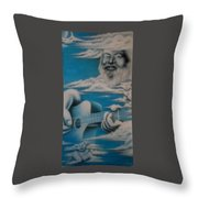 Jerry In The Clouds Throw Pillow