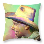 Jerry Jeff The Gypsy Songman Throw Pillow