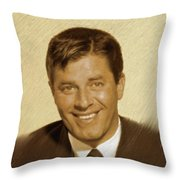 Jerry Lewis, Vintage Actor Throw Pillow