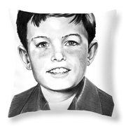 Jerry Mathers-as The Beaver-murphy Elliott Throw Pillow