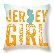 Jersey Girl Throw Pillow