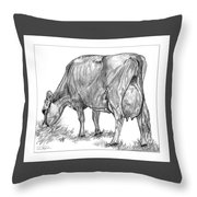 Jersey Milking Cow Throw Pillow