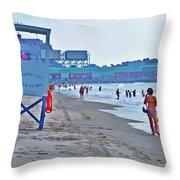 Jersey Shore - Atlantic City Throw Pillow