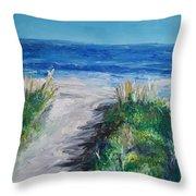 Jersey Shore Dunes  Throw Pillow