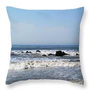 Jersey Shore Morning - Atlantic City Throw Pillow
