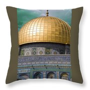 Jerusalem - Dome Of The Rock Throw Pillow