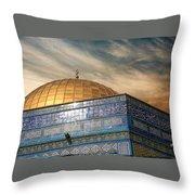 Jerusalem - Dome Of The Rock Sky Throw Pillow