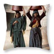 Jerusalem - Milk Seller Throw Pillow