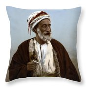 Jerusalem - Sheik Of Palestinian Village Throw Pillow
