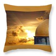 Jerusalem - The Morning Light Throw Pillow
