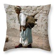 Jerusalem - Water Carrier Throw Pillow