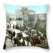 Jerusalem: Bazaar, C1900 Throw Pillow