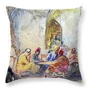 Jerusalem Cafe Throw Pillow