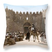 Jerusalem: Caravan, C1919 Throw Pillow