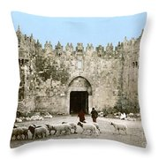 Jerusalem: Damascus Gate Throw Pillow