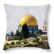 Jerusalem Dome Of The Rock  Throw Pillow