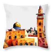 Jerusalem Domes And Minarets Throw Pillow