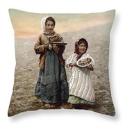Jerusalem Girls, C1900 Throw Pillow